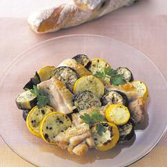 夏野菜と鶏肉のマリネ