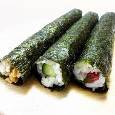 【のりまきDAYS】かんたん海苔細巻3種