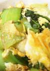 簡単甘酒たれで♡チンゲン菜と卵の炒め物
