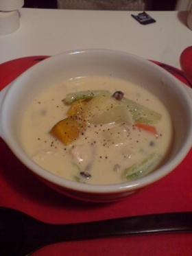 超ヘルシー☆あったか豆乳みそスープ