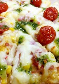 ★かんたん 発酵不要 ピザ バジルソース