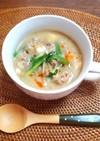 もやしと絹ごし豆富の坦々スープ