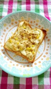 朝食やランチに♪オニオンツナマヨトーストの写真