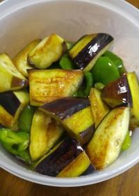 夏の常備菜 茄子とピーマンの揚げ浸し
