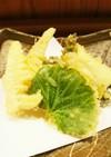 タケノコとワラビの天ぷら