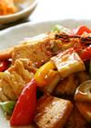 厚揚げと野菜の甘酢炒め