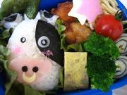 キャラ弁♪牛さん♪の写真