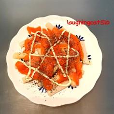 スモークサーモン&ホワイトアスパラサラダ
