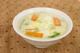 白菜の豆乳かきたま汁