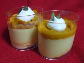 かぼちゃクリームとさつま芋ムースケーキ。