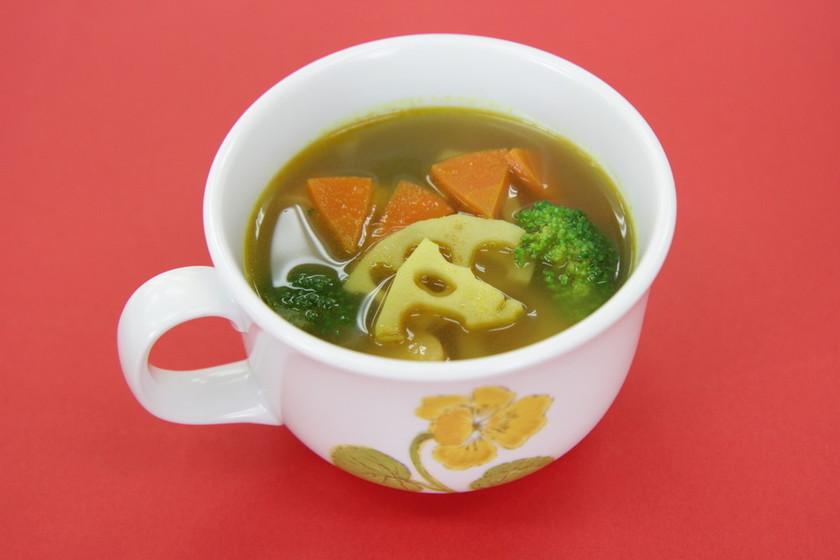 れんこんのカレースープ