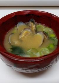 あさりの味噌汁(冷凍あさり使用)