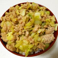 スプーンで食べる!豚ひき肉の甘辛丼