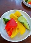 カラフル野菜のエスニック風即席ピクルス