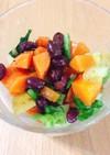 角切りコロコロ野菜と小豆のサラダ