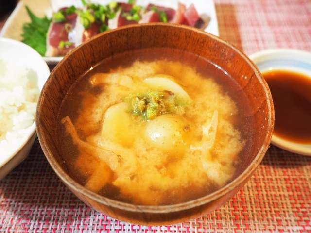 ふきのとう 味噌汁