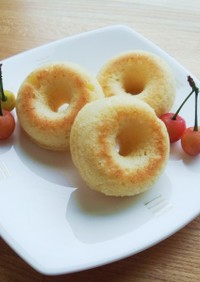 卵なし☆水切りヨーグルトの焼きドーナツ