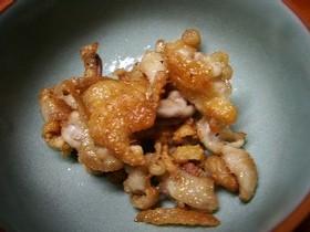 ただ焼くだけのパリパリ鶏皮