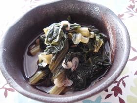 小松菜のくたくた煮。