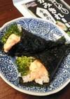 サーモンディップとブロッコリー手巻寿司