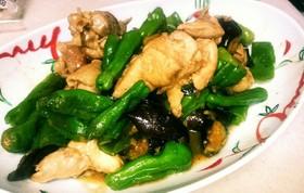 鶏肉と茄子などの夏野菜の味噌炒め☆簡単♥