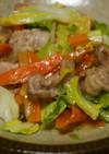 豚肉と春キャベツのネギ塩炒め