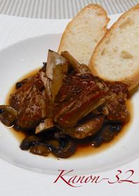 豚肉のスペアリブ、バルサミコ酢煮☆圧力鍋