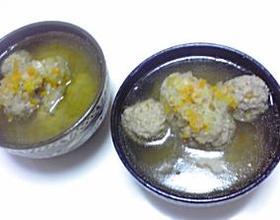 肉団子のコンソメスープ