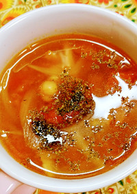 ☆15分で簡単☆お豆のミネストローネ