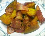 カボチャとベーコンのオイマヨ炒めの写真