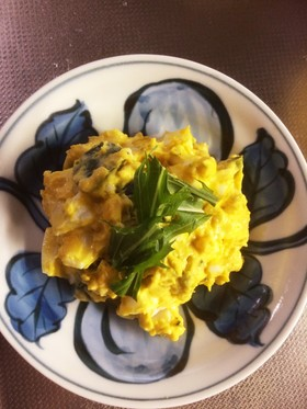 かぼちゃとゆで卵のサラダ