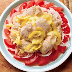 「味つけ冷凍肉」でレモンマリネチキン