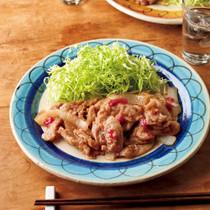 「味つけ冷凍肉」で豚の梅しょうが焼き