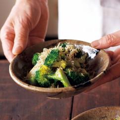 ブロッコリーのうま塩じゃこ炒め