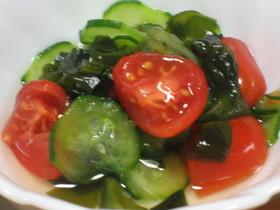 簡単!きゅうりとトマトの酢の物