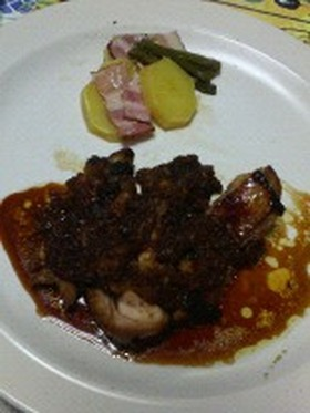 超手抜き☆鶏もも肉のてりやきみぞれソース