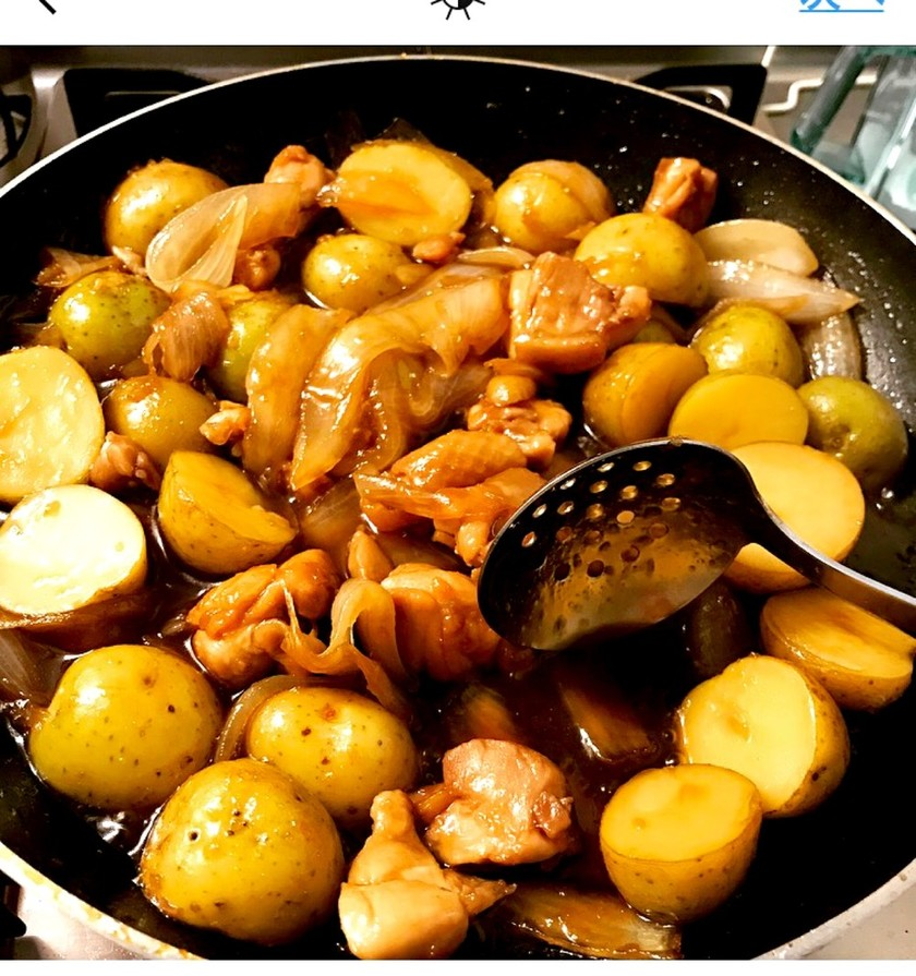 新じゃがと鶏ももの照り煮♡甘辛生姜味♡