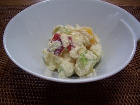 秋の果物の白和えピーナッツバター入り