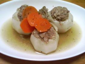 かぶの肉詰めスープ煮