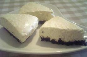 オレオのレアチーズケーキ