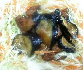 鶏とナスの甘辛煮