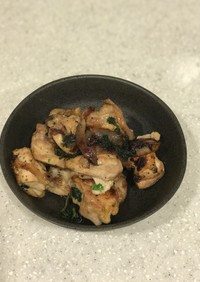 鶏もも肉のパセリバターソース