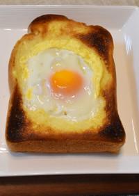 魚焼グリルでカリカリ★半熟目玉焼トースト
