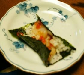 いくらとほたての手巻き寿司