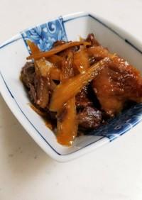 牛すね肉とごぼうの煮込み(圧力鍋使用)