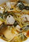 豚肉ともやしと小松菜 きのこの和風煮✿