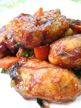 牡蠣の甜麺醤炒め