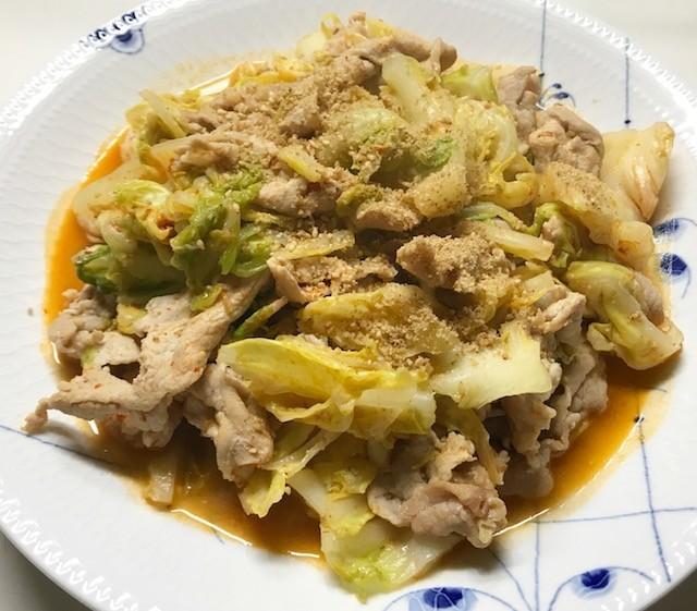 春キャベツ☆豚肉と春キャベツの坦々炒め☆