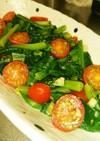 小松菜とトマトのソテー
