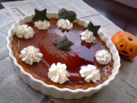 ハロウィン♪レンジDE簡単かぼちゃプリン